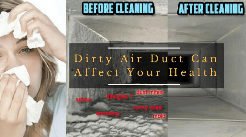 Dirty Air Duct Can Affect Your Health