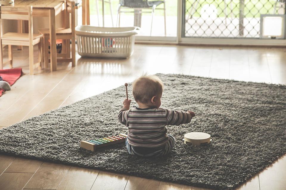 Child on carpet