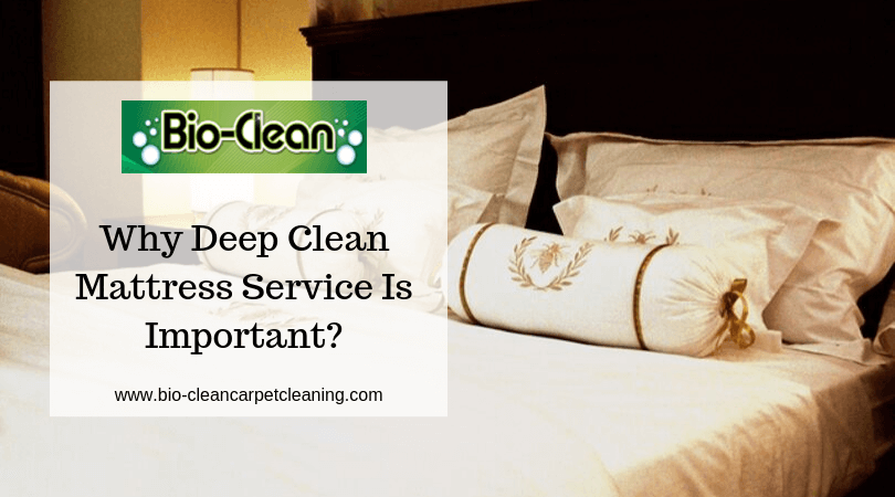 Why Deep Clean Mattress Service Is Important?