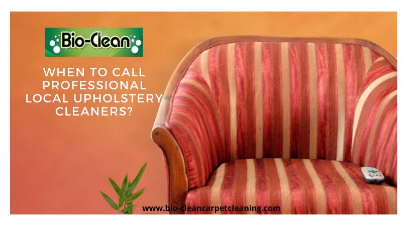 When to Call Professional Local Upholstery Cleaners