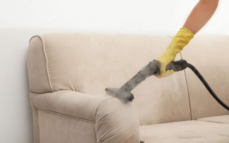 Professional Steam Cleaning Fabric Couch